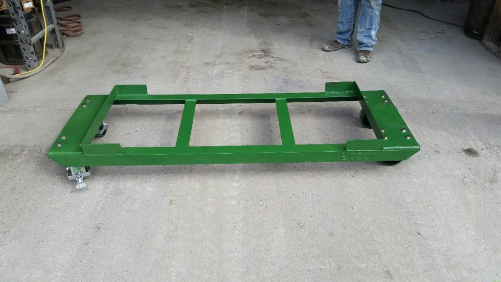 Concrete Washout Pan Elevator Dolly